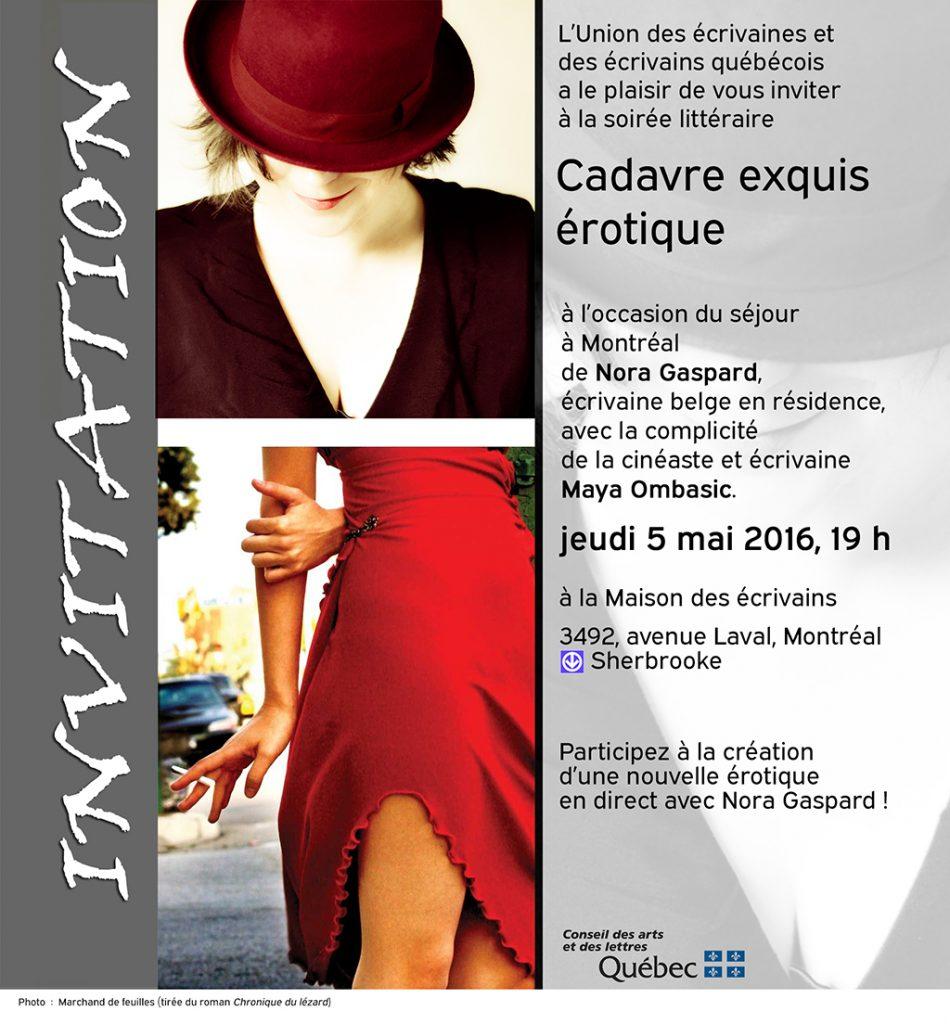 Carton d'Invitation Nora Gaspard