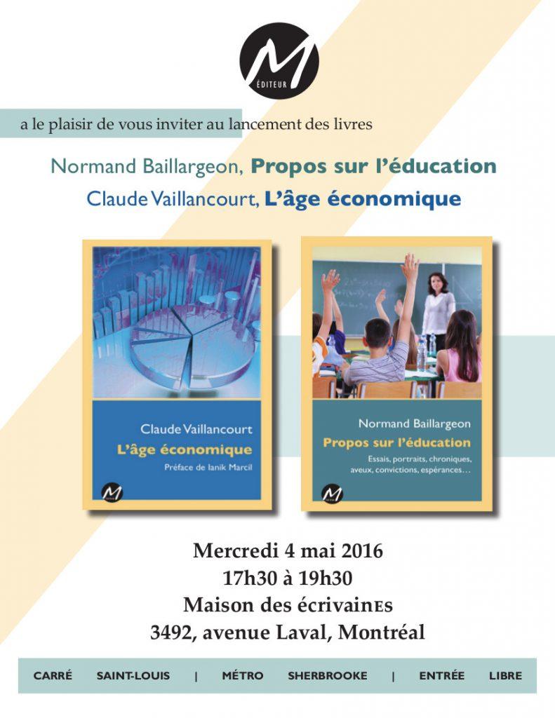 Lancement Vaillancourt+Baillargeon